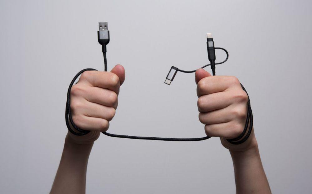 Adam Elements Peak Trio 120B Lightning Cable