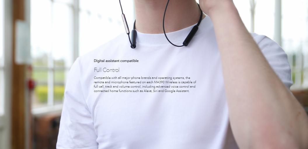RHA MA390 Wireless In Ear Headphones